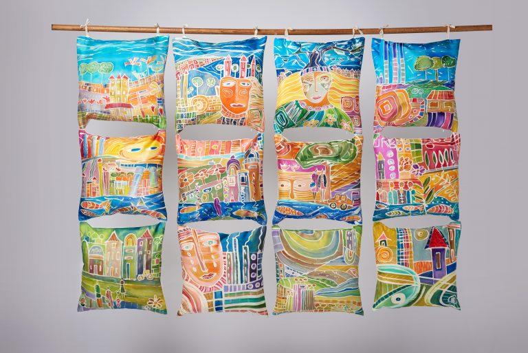 La ciudad sostenible. Homenaje a Hunderrwasser. Obra en seda