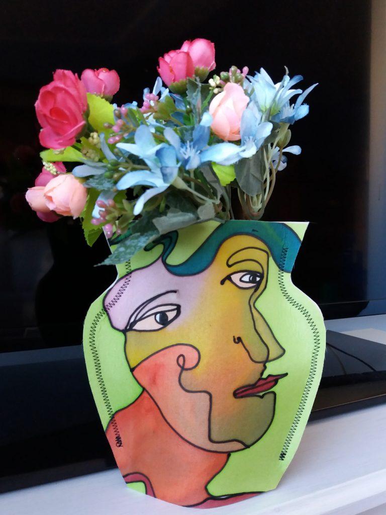 Florero mágico seda pintada pequeño